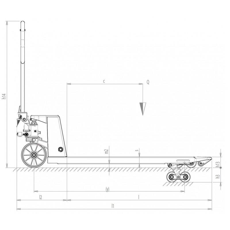 Transpaleta manual GS Basic S4 Frutera