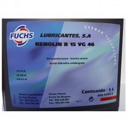 Garrafa aceite Fuchs 15VG46 5L