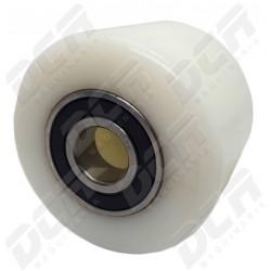Rueda rodillo 85x65x20 CR Nylon Blanca